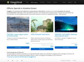 Página dedicata a las ofertas especiales e iniziativas green de las estructuras