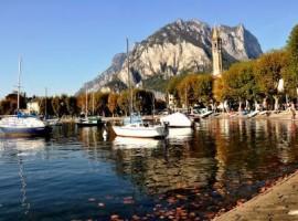Lecco y su lago en otoño