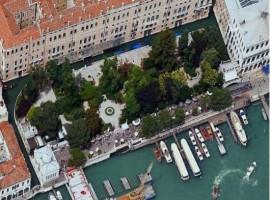 Los jardines Reales de Venecia vistos desde arriba
