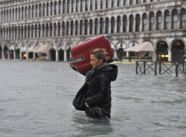 Alta marea en Venecia