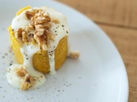 Torta de calabaza con crema de taleggio