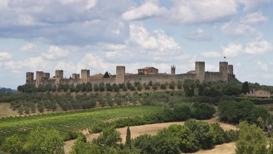 Vista del pueblo de Monteriggioni