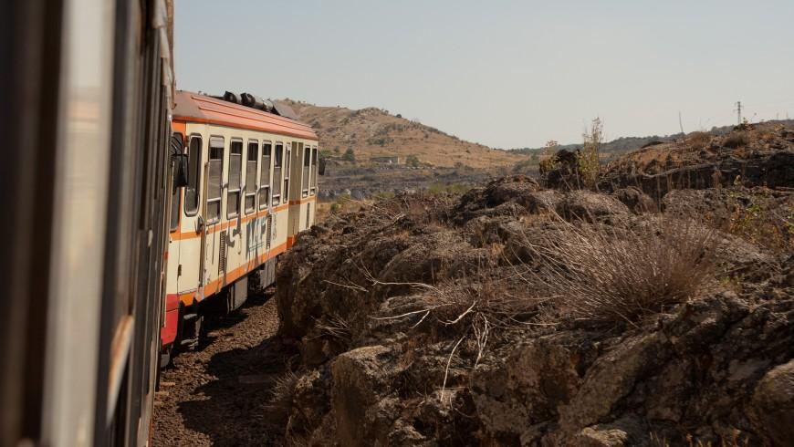 Trayecto del tren Circumetnea por Sicilia