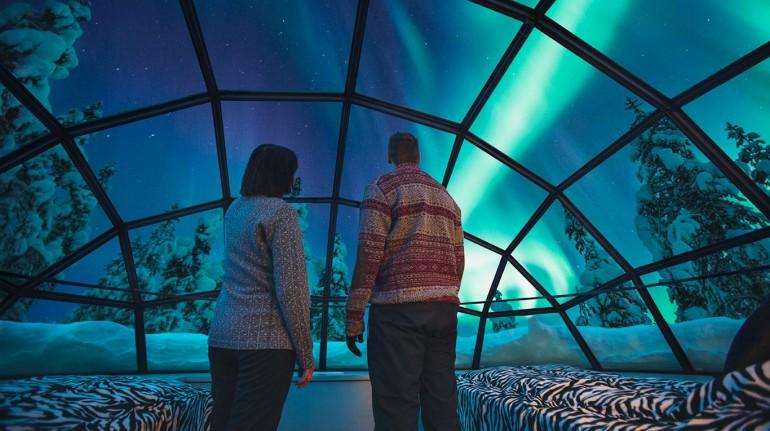 Vistas desde el Kakslauttanen Artic Resort, Lapponia. Los 19 hoteles más extraños del mundo