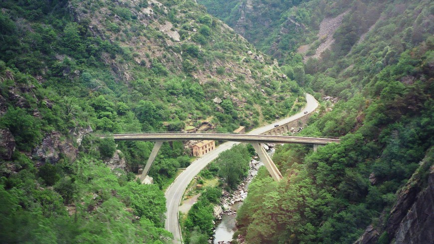 Recorrido del tren de las Maravillas entre Francia e Italia