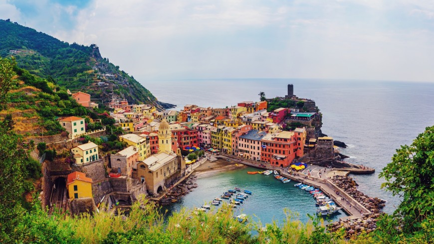 Vista de Manarola,Cinque Terre, Liguria