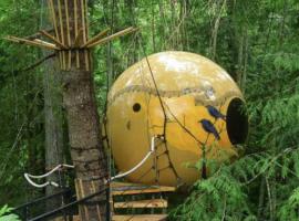 Esferas del Free Spirit Spheres. Los 19 hoteles más extraños del mundo.