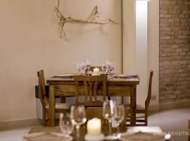 Restaurante en Casa Olivo, durmiendo en antiguos pueblos de Italia