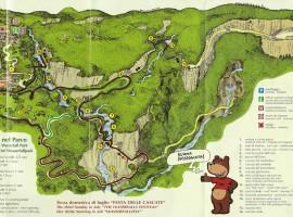 Mapa del Parque de las Cascadas de Molina