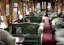 Interior del tren Belmont Royal Scotsman