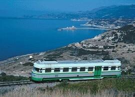 Paisaje del trayecto del Tren Verde de Sardeña