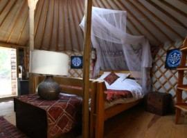 glamping portugal yurt