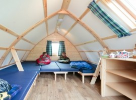 Wigwam Escocia campamiento