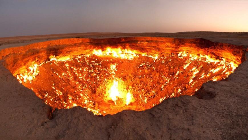 Cratér incendiado, Turkmenistán