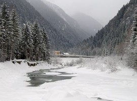 Valle de Genova en el invierno, en Wikimedia Commons