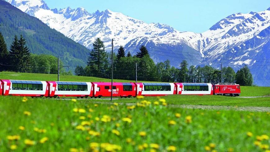 El Swiss Glacier Express, Accesibilidad en transporte público
