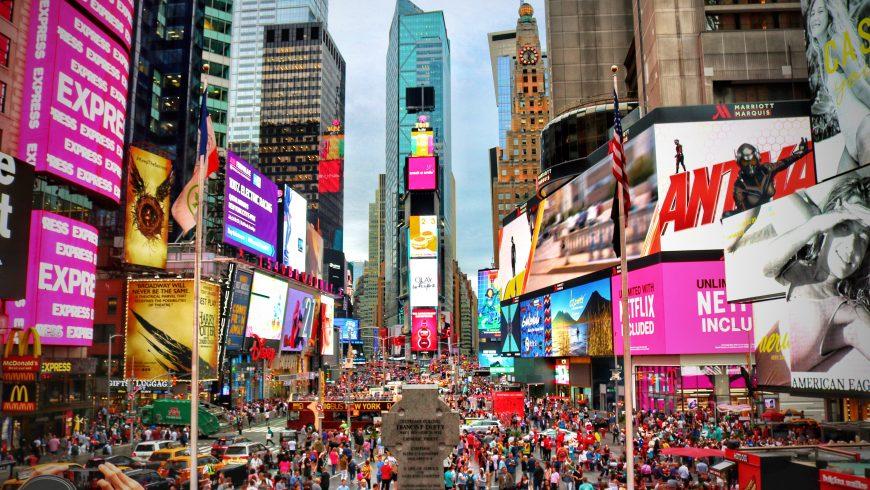 overtourism en Time Square