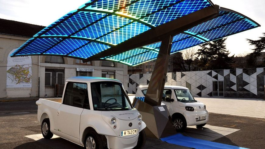 Vehículos eléctricos-estación de carga
