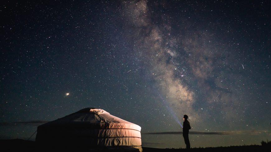 yurta de noche