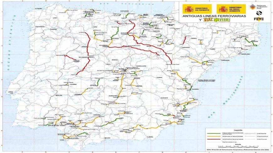 Mapa Vías Verdes en España